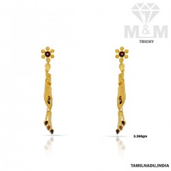 Sparkling Gold Fancy Earring