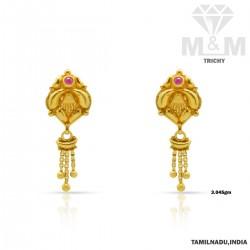 Mannerly Gold Fancy Earring