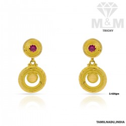 Enthral Gold Fancy Earring