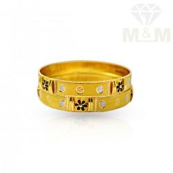 Dazzling Gold Fancy Bangles