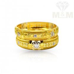 Joyful Gold Fancy Bangles