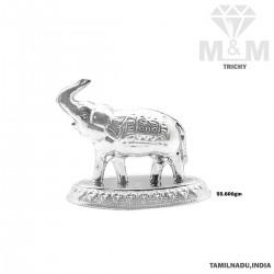 Classy Silver Elephant Idol