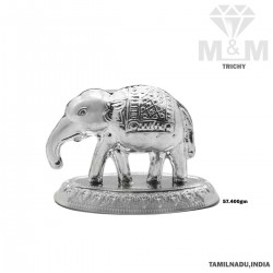 Gorgeous Silver Elephant Idol