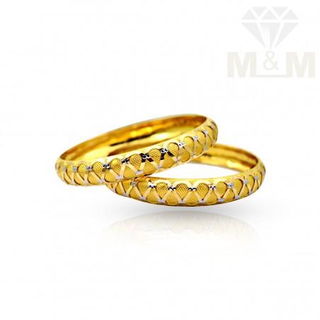Vivacious Gold Fancy Bangles