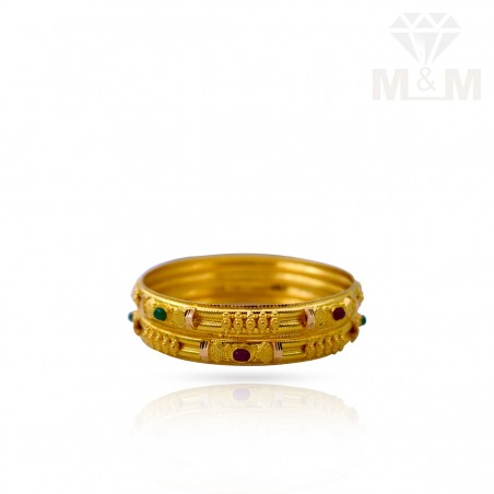 Unparalleled Gold Fancy Bangles