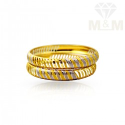 Serene Gold Fancy Bangles