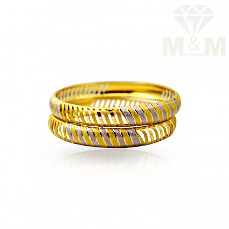Serene Gold Fancy Bangles
