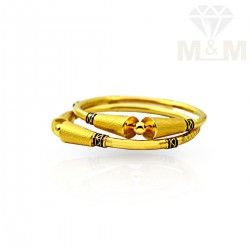 Scenic Gold Fancy Bangles