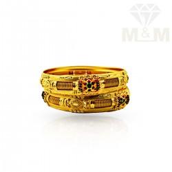 Resplendent Gold Fancy Bangles