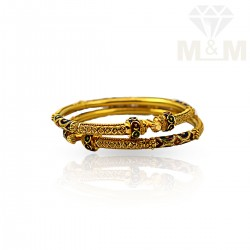 Prodigious Gold Fancy Bangles