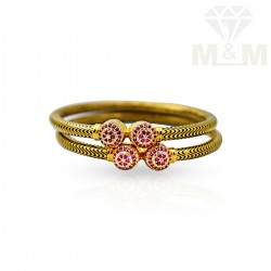 Personable Gold Fancy Bangles