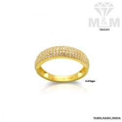 Subtle Gold Casting Stone Ring