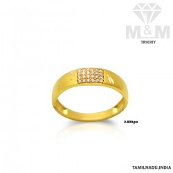 Luxury Gold Casting Stone Ring