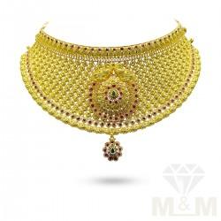 Pretty Gold Fancy Choker Necklace