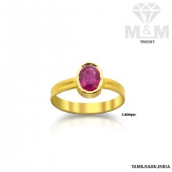 Attractive Gold Ruby Stone...