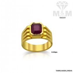 Dandy Gold Ruby Stone Ring