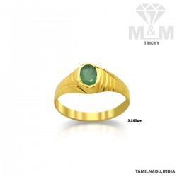 Famous Gold Emerald Stone Ring