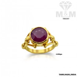 Fascinate Gold Ruby Stone Ring