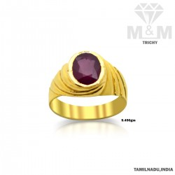 Glorious Gold Ruby Stone Ring