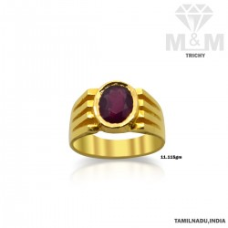 Handsome Gold Ruby Stone Ring