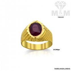 Haunting Gold Ruby Stone Ring
