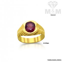 Humble Gold Ruby Stone Ring