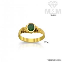 Interesting Gold Emerald...