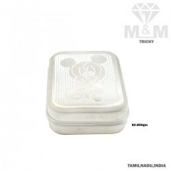 Stylish Silver Fancy Soap Box