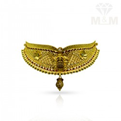 Graceful Gold Fancy Choker Necklace
