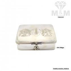 Esthetic  Silver Fancy Box