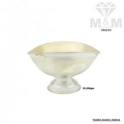 Tasteful Silver Vibuthi Madal