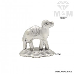 Luxuriant Silver Camel Statue