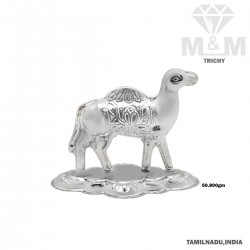 Luxurious Silver Camel Statue