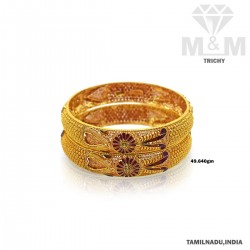 Amiable Gold Fancy Bangle