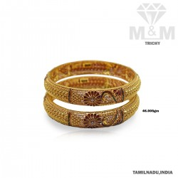 Artful Gold Fancy Bangle