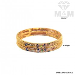 Captivate Gold Fancy Bangle