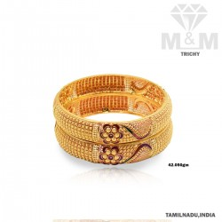 Benzaiten Gold Fancy Bangle