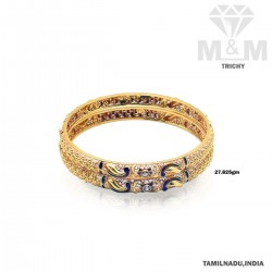 Enthral Gold Fancy Bangle