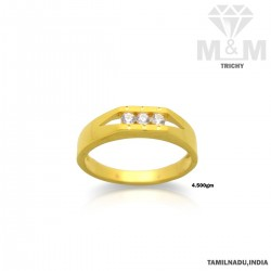 Great Gold Casting Stone Ring