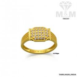Folk Gold Casting  Stone Ring