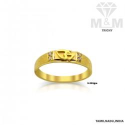 Grandest Gold Casting Om Ring
