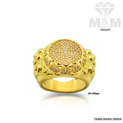 Bright Gold Casting Stone Ring
