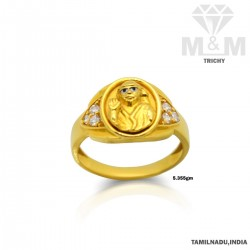 Canny Gold Fancy Sai Baba Ring