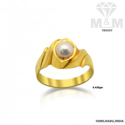 Good Looking Gold Pearl Ring
