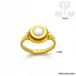 Handsome Gold Pearl Ring