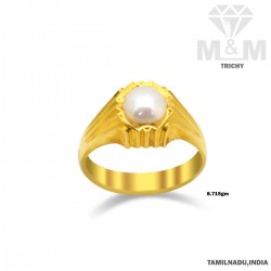 Humble Gold Pearl Ring