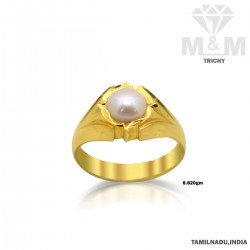 Impossibly Gold Pearl Ring