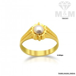 Inspired Gold Pearl Ring