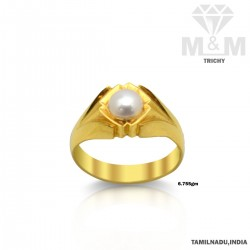 Lovely Gold Pearl Ring