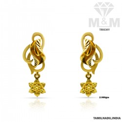 Tranquil Gold Casting Earring
